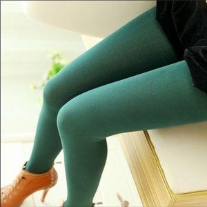 Green Tights - Seamless Microfiber tights